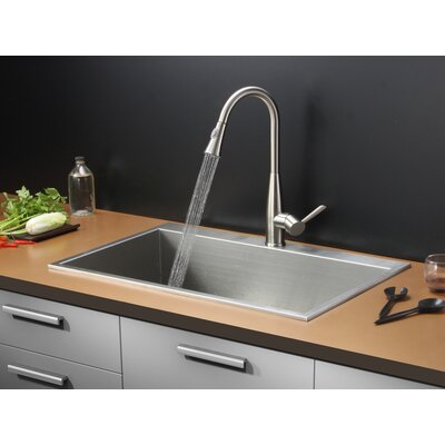 33 x 21 Drop-in Kitchen Sink with Faucet