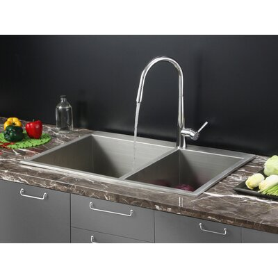 33 x 22 Kitchen Sink with Faucet