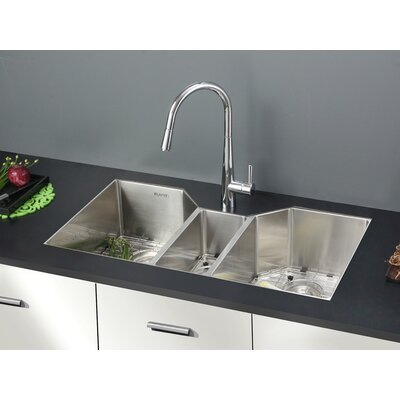 Gravena 35 x 19.5 Undermount Triple Bowl Kitchen Sink