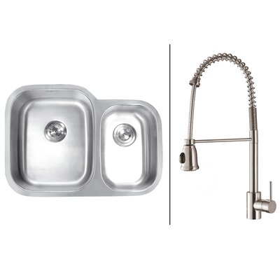 32 x 19 Kitchen Sink with Faucet