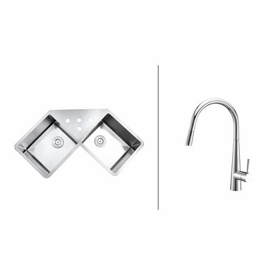 43.75 x 23  Kitchen Sink with Faucet