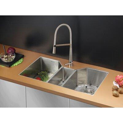 Gravena 35 x 19.5 Undermount Triple Bowl Kitchen Sink