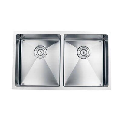 Gravena 32 x 19 Undermount Double Bowl Kitchen Sink