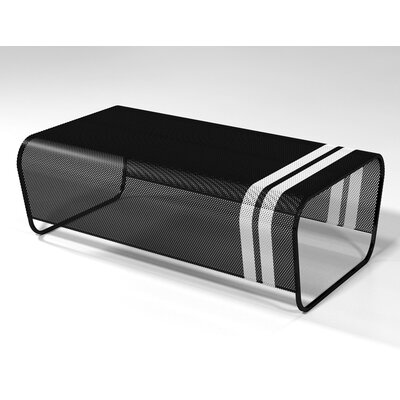 Lami Coffee Table Finish: Black with White Racing Stripes
