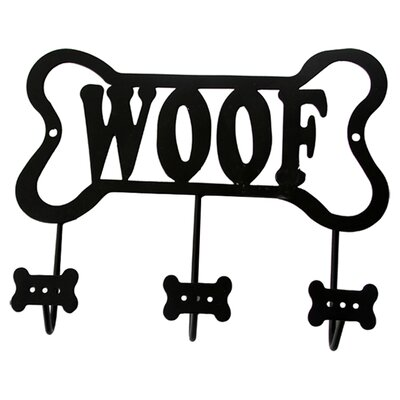 Lucky Dog Bone Shaped Woof Leash Wall Hook Rack
