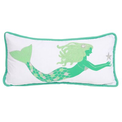 Embroidered Mermaid Lumbar Pillow