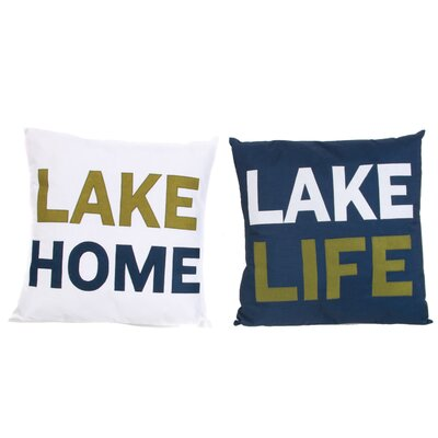 Lake Living 2 Piece Applique Throw Pillow Set