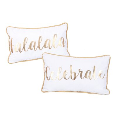 Sparkle and Shine Gold Foil Accent Lumbar Pillow Set