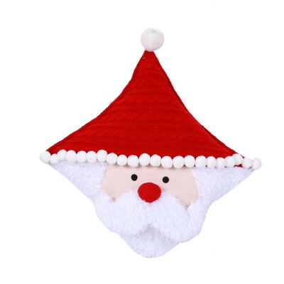 Dear Santa Santa Face Pillow