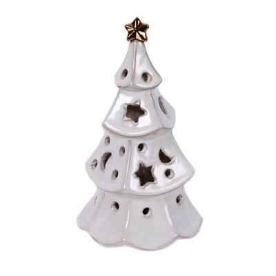 Merry and Bright Ceramic Christmas Tree Plug Night Light