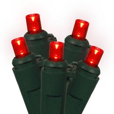 100 Wide Angle Christmas Light Color: Red