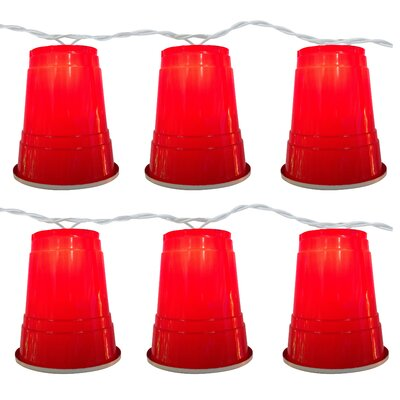 10 Light Red Party Cup String Light 96-614-20