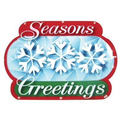 Brite Star Seasons Greetings Show Sign 20 Light LED Light