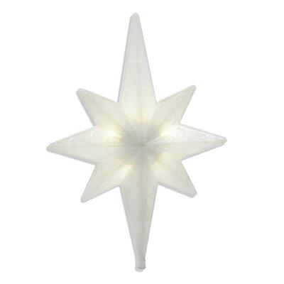 Brite Star LED Iridescent Bethlehem Star Tree Topper - Color: White