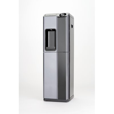Global Water Hot and Cold Free-Standing Water Cooler in Silver and Black