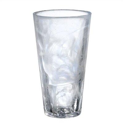 Mine Tall White Tumbler Glass