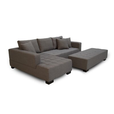 Fit Sectional with Ottoman Orientation: Left Arm Sofa, Upholstery: Light Gray