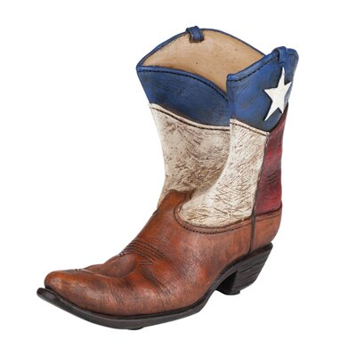 Rodeo Lone Star Boot 1 Bottle Tabletop Wine Rack
