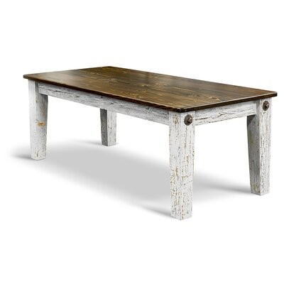 Prairie Bolt Dining Table Top Finish / Base Finish: Ebony / White-Washed
