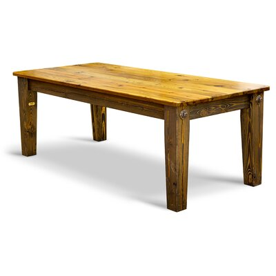 Prairie Bolt Dining Table Top Finish / Base Finish: Natural / Dark Danish Oil
