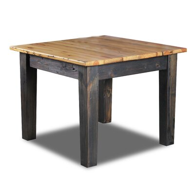 Farm Bar Height Dining Table Top Finish / Base Finish: Natural / Ebony