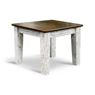 Farm Bar Height Dining Table Top Finish / Base Finish: Ebony / White-Washed