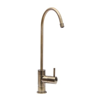 Single Handle Standard Kitchen Faucet Finish: Brass