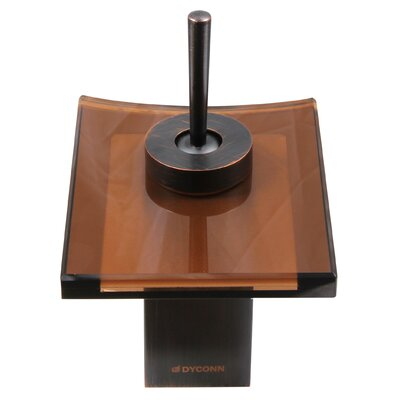 Single Handle Single Hole Waterfall Faucet Finish: Brown Glass