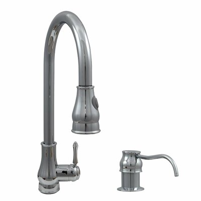 Single Handle Kitchen Faucet and Soap Dispenser Finish: Polished chrome
