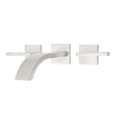 Signature Series Levantine Double Handle Wall Mount Lavatory Faucet Finish: Brushed Nickel