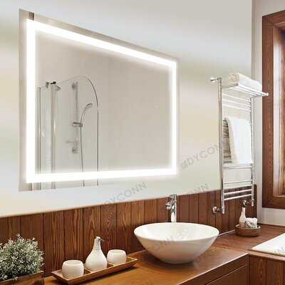"Edison Bathroom Mirror Size: 36"" H x 48"" W"