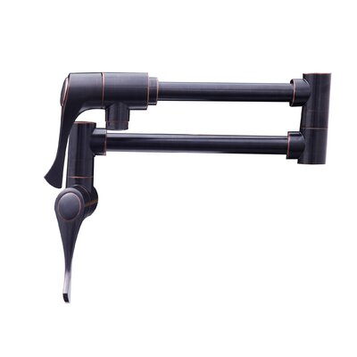 Double Handle Wall Mounted Pot Filler Finish: Oil Rubbed Bronze