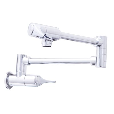 Double Handle Wall Mounted Pot Filler Finish: Polished Chrome