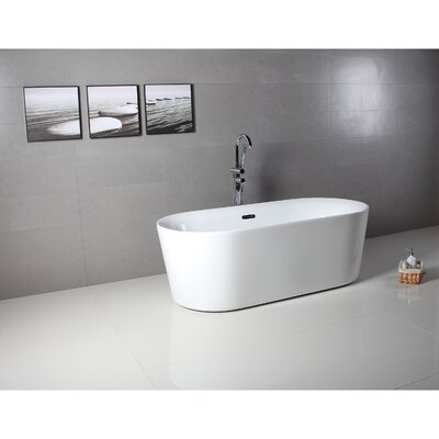 Como 32 x 67 Freestanding Soaking Bathtub
