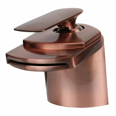 Waterfall Single Hole Handle Bathroom Faucet Finish: Antique Copper