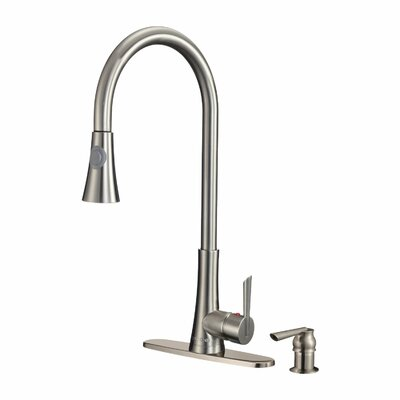 Celtic Pull Out Single Handle Kitchen Faucet and Soap Dispenser