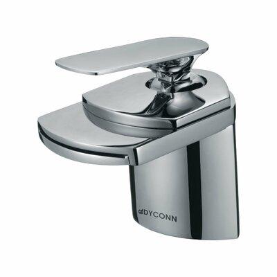 Waterfall Single Hole Handle Bathroom Faucet Finish: Brushed Nickel