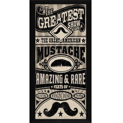 Great American Moustache Framed Textual Art GCT87695