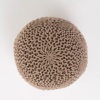 Highland Pouf Upholstery: Light Brown