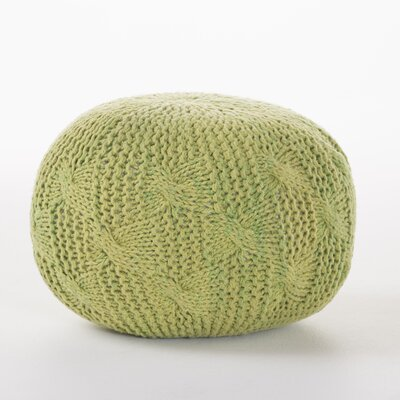 Newman Outdoor Pouf Ottoman Upholstery: Lime