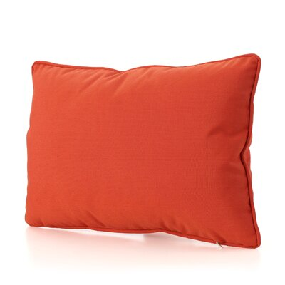 Ashbrook Water Resistant Outdoor Pillow Color: Orange