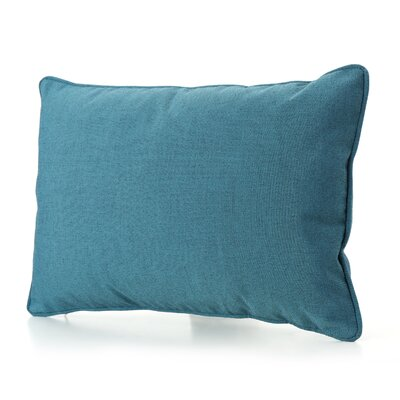 Ashbrook Water Resistant Outdoor Pillow Color: Teal