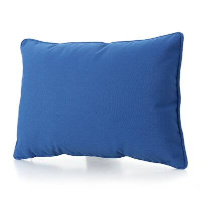 Ashbrook 4 Piece Water Resistant Outdoor Pillow Color: Blue
