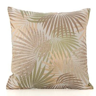 Danae Outdoor Throw Pillow Color: Sand/Green