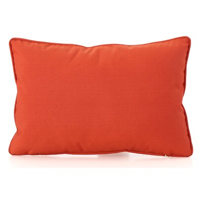 Northfield Outdoor Lumbar Pillow Color: Orange