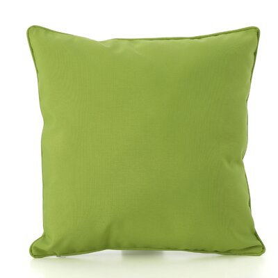 Northfield Outdoor Throw Pillow Color: Green