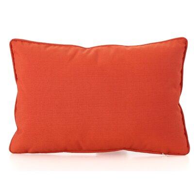Northfield Outdoor Lumbar Pillow Color: Orange