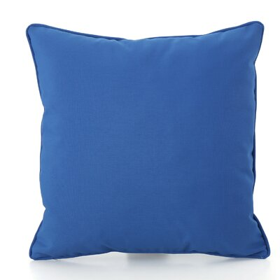 Thorson Modern Outdoor Throw Pillow Color: Blue