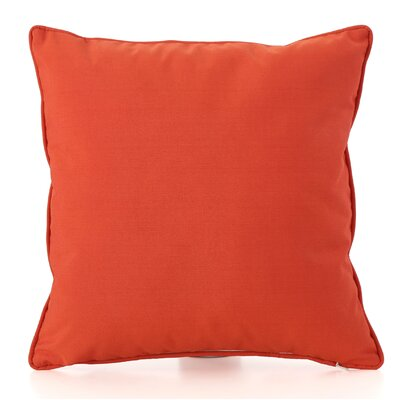 Thorson Outdoor Throw Pillow Color: Orange