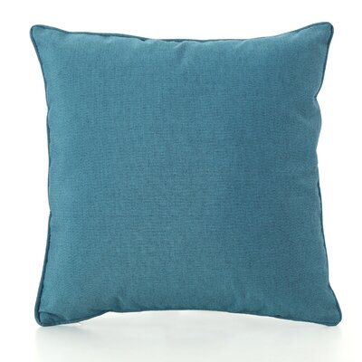 Northfield Outdoor Throw Pillow Color: Teal